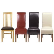 moda dining chair £120 bonded leather chairs £105 each